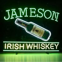 Wholesale Jameson Whiskey Neon Signs - Brand New Jameson Irish Whiskey Real Glass Neon Sign Beer light