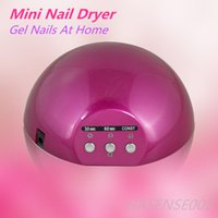Wholesale Gel Nails Home - Mini Nail Polish Ultraviolet Light Dryer Machine Gel Nails at home 18 watt LED Nail Curving UV Lamp Gifts For Mother Girlfriend Wife
