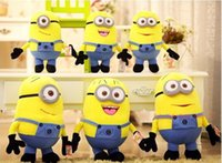 Wholesale Despicable Movie Plush Toy - 100pc 22-25CM 3D Toys Despicable Me Plush Toys Kids Stuffed Dolls Jorge Dave Kids Plush Dolls Christmas Gift free shipping