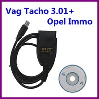 Wholesale Pin Code Immo - Free Shipping!Vag Tacho 3.01+ Opel Immo Airbag Change mileage&Read PIN Code Diagnostic Cable VAGTACHO USB 3.01