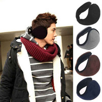 Wholesale Winter Earmuffs - Winter Ear Warmers Earmuffs Ear muffs Behind the Ear Style Women Men Unisex Warm Winter Plush Earmuffs Black