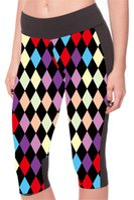 Wholesale Capri Dance Pants - Tight Capri Pants Quick-Drying Track Slim Sports Cropped Breathable 3D Digital Printing Elastic Legging Women Dancing Diamond LN7Slgs