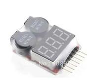lipospannungsalarm großhandel-100 teile / los durch DHL Fedex Lipo batterie Spannungsanzeige volt meter monitor tester summer Alarm