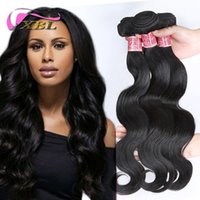 Wholesale One Piece Black Hair Extensions - XBL Different Human Hair Extensions 3 Bundles Brazilian Indian Peruvian Malaysian Virgin Human Hair Within One Free Bundles Or Top Closure