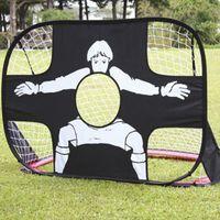 Wholesale Soccer Football Net - Children Kids sports toy mini Dual-use Foldable Portable Football soccer ball Target Shot Goal Net Door Gate