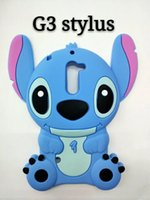 Wholesale Lilo Stitch Phone Cases - 3D Stitch Lilo Soft Silicone Case For LG K7 K8 K10 G2 G3 ,G3 Stylus,Huawei P8 Lite P9 Fashion Cute Lovely Cartoon Stereo Phone Covers