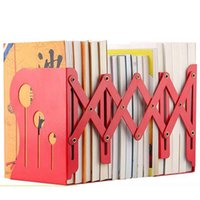 Wholesale Desk For School - High Quality Fashion Retractable Metal Bookends Iron Home Office School Decorative Book Support Holder Desk Stands For Books