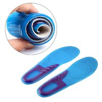 Wholesale Shoe Insoles Arch Support - 1000pcs=500pairs Women Men Size Silicone Gel Orthotic Arch Support Massaging Sport Shoe Insole Run Pad Free Shipping