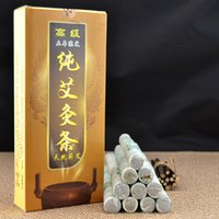 Wholesale Moxa Rolls - 18mm*220mm Pure Moxa Roll Moxa Stick Moxibustion Navel Smoked Therapy 10Pcs Lot