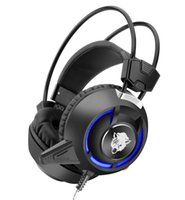 Headset F35 Deep Bass Jogo Headphone Stereo Surrounded Over-Ear Gaming Headset Vibratório Headband com Luz para PC PC Gamer 3C-EJ
