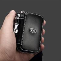 Wholesale Carbon Fiber Key Case - leather car key case ,key cover ,key wallet for KIA K2 RIO K3 K5 Sorento Carens Sportage Soul accessories