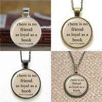Wholesale book online - 10pcs Book Lover Hemingway Quote Lover glass Necklace keyring bookmark cufflink earring bracelet