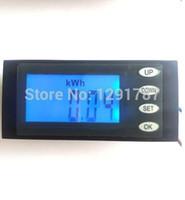 Wholesale Energy Monitor Meter - Wholesale-NEW AC 80-270v 110v 220v Digital LED power meter monitor Voltage KWh time watt energy Volt Ammeter voltmeter