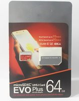 Wholesale 128g Memory Cards - 2017 Hot EVO Plus Bestseller 128G 64GB 32GB Mini Card 128GB 48MB   s TF Memory Card SD Card Class 10 SD Adapter Blister Pack