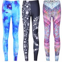 Las mujeres de moda Ranbows y cráneo Galaxy Leggings 3 colores pantalones de buceo Impreso Sky Space Stretchy Breathe Navidad calientes Jeggings Slim Tights