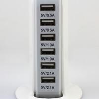 apple сформировал зарядное устройство iphone оптовых-Usb Power Sailing Shaped Адаптер С Шестью Usb Power Port Смарт-Зарядное Устройство Для Iphone Samsung И Других Мобильных Телефонов