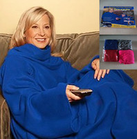 Wholesale Adult Snuggie Blanket - Snuggie Blanket With Sleeves Creation Super Soft Fleece Seen On Pockets Lazy Warm Hands Home Blankets With Color Box PX-C01