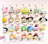 Wholesale Cute Badges - Mini Tsum Badge Brooch Pretty Mermaid Mickey & Minnie Plush Toy Doll Stitch Mermaid Cute Elf Juguetes