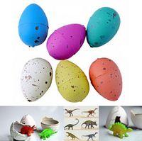 ingrosso uovo dino magico-Wholesale- 8pcs Magic Growing Dino Eggs Hatching Dinosaur Aggiungi Water Child Inflatable Kid Toy