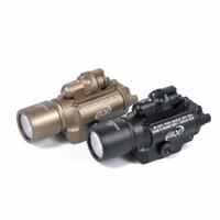 laser à lumière tactique achat en gros de-La lampe-torche tactique X400 a mené la lumière d'arme à feu imperméable avec le laser rouge adapté 20mm Picatinny Rail