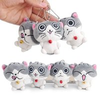 Wholesale Cheese Cat Toy - Plush Toy pendant Cute Cheese Cat Chi's Cat Stuffed Plush animal Figure Toy Stuffed Keychain Plush Toy Doll Gift For Friends Kids