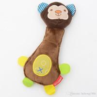 brinquedo de dente de pelúcia venda por atacado-Brinquedo do enigma do cão Dos Desenhos Animados Animal Plush Plaything Som Molar Dente Pet Suprimentos Durable Home Decor Hot 4 8sh H R