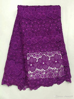 Wholesale Dress Fabric Textile - shipping by DHL(5yards lot) African lace fabric guipure textile material high quality French lace fabric for wedding party dress