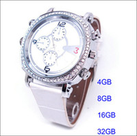 Wholesale Ladies Spy Camera - H300 Lady Cute Watch spy Camera DVR 8GB 16GB 32GB Waterproof watch spy video recorder H.264 video Hidden 1280*720P Recorder