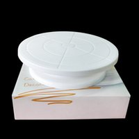 Wholesale cake turntable plastic - Cakes Rotary Table Plastic White Round Cake Turntable Anti Skid For Kitchen DIY Tools Baking Special 8 2rs C R