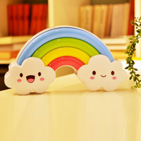 Wholesale Rainbow Wall Stickers Kids - Wholesale- Tanbaby Rainbow LED Night Light with wall sticker 1.5V Sound control lamp For Baby Kids Room Decoration Bedside Wall Declas