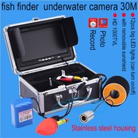 "Wholesale Professional Video Card - SY701 15m 30m 50m Professional Underwater Fishing camera 7"" LCD 12 LED 1000TVL HD camera Video Fish Finder Underwater Camera+8G SD card ann"