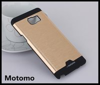 Wholesale Iphone5 Case Brushed Aluminum - Motomo Case for iphone5 6 6S PLUS Samsung S3 S4 S5 S6 EDGE S7 edge NOTE5 4 3 G530 G360 Brushed Brush Aluminum Metal TPU Hard Cover Cases