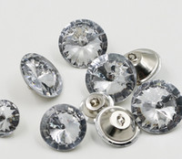 Wholesale 25mm Crystal Buttons - FreeShipping 200PCS Clear 20MM 18MM 25MM 30MM Satellite Crystal Glass Buttons, Sofa Buttons, Sewing Buttons, Upholstery Buttons, Shinning