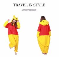 Wholesale Pooh Kigurumi Pajamas - Winnie the pooh Adult Pajamas Kigurumi Cosplay Costume Animal Onesie Sleepwear