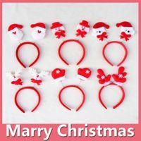 Wholesale Santa Head Bands - 2016 Hot Christmas Headband Santa Xmas Party Decor Hair Band Clasp Head Hoop Headwear Christmas Gift Christmas Decoration DHL Free 161014