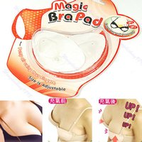 Wholesale Inflatable Bra Wholesale - Wholesale-1Pair Washable Cotton Magic Inflatable Bra Pad Push Up Breast Pads-151