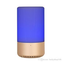 Wholesale portable app mp3 player online - APP Touch Control Wireless Bluetooth speaker Home speaker TF card AUX originality speaker RGB Emotional escort Music Bulb LED Table Lamp DHL