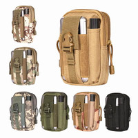 Vente en gros en plein air Tactical Holster Militaire Ceinture Sac Portefeuille Pouch Purse Phone Case avec Zipper pour iPhone / Samsung / LG / HT