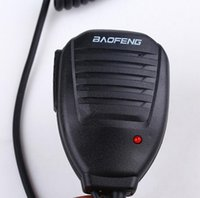 Wholesale two way radios microphone - Baofeng Original Portable PTT Handheld Speaker black color Two Way Radio Speaker Microphone for walk talkie Baofeng UV 5R 5RA 5RE 5R Plus