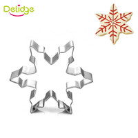 Wholesale Christmas Stainless Steel Mold - 1 pc Merry Christmas Cookie Mold Stainless Steel Snow Sock Bell Pumpkin Crutches Cookie Cutter Cake Fondant Decoration Mold