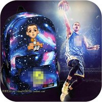 Wholesale Star Q - Cartoon Q version Stephen Curry backpack male female students backpack schoolbag boys girls Basketball star backpack YOUTH bag.