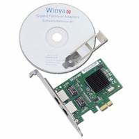Wholesale Dual Port Network Card - Wholesale- Dual Port Gigabit Ethernet Adapter Network Card With Broadcom bcm5715 Chipset