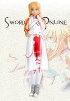 Anime Costumes blood online - Sword Art Online Asuna Yuuki Cosplay Costume Asuna Yuuki Knights of the Blood Oath Uniform Halloween costumes for women