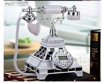 Wholesale Vintage Rotary Dial Telephones - Beamio European Retro Vintage Rotary Dial Antique Telephone With Redial Phone home Phone Antique Telephone Vintage Wood Home Fitted Landline