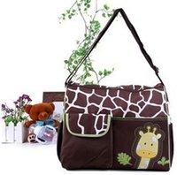 Wholesale Summer Nappy - 2016 Summer Style Animal Baby Diaper Bag Mummy Nappy Zebra Or Giraffe Babyboom Multifunctional Fashion Infanticipate Shoulder