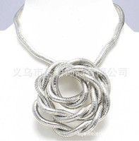 "Wholesale Bendy Necklace Wholesale - Wholesale - Silver bendy snake necklace, diameter 5mm, length 90cm(35""),"