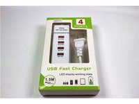 Wholesale Charger Combo - US# Plug 4 USB Port Charging Station 5V 6.4A USB Wall Desktop Charger Combo Socket for IPHONE iPad Samsung Tablets 30% Faster