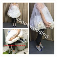 Wholesale Gathered Skirt - Bride's Buddy Save You From Toilet Water Bridal Bathroom Helper Wedding Petticoat Bridal Friend Dress Slip Gather Skirt