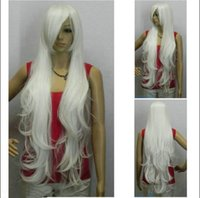 Wholesale Extra Long Curly Cosplay Wig - Free Shipping >>>New 100cm Extra Long Bright Cosplay Wig free Hairnet