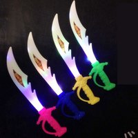 Wholesale Sword For Kids - Led Toys Electronic Light Knife Simulation Children's Toys Sword Colorful Flash Swords Gifts For Kids ZA5003